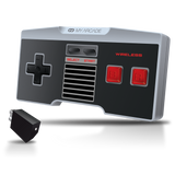 Front view of GamePad Classic wireless controller with wireless dongle for NES Classic Edition®