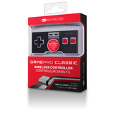 Package front view of GamePad Classic wireless controller for NES Classic Edition®