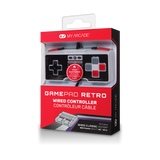 Package front view of GamePad Retro wired controller for NES Classic Edition®