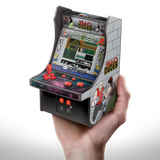 My Arcade Bad Dudes Micro Player Retro Arcade cabinet in hand