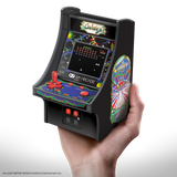 My Arcade GALAGA Micro Player Retro Arcade cabinet in hand