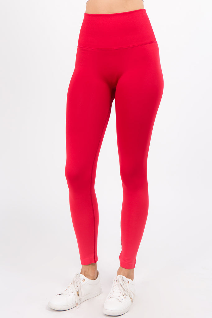 Red Dip Dyed High Waisted Leggings