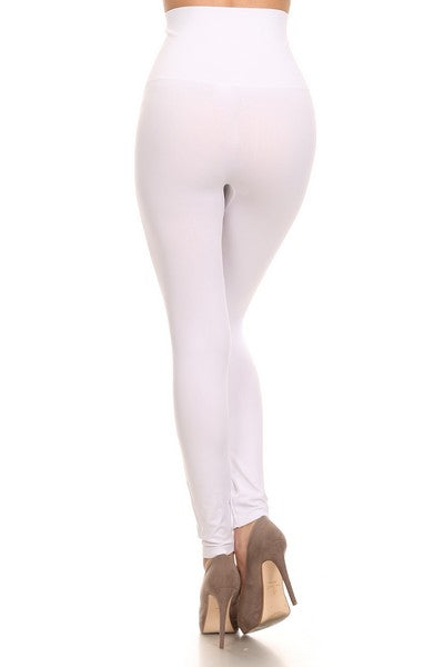 White Super High Waisted Leggings