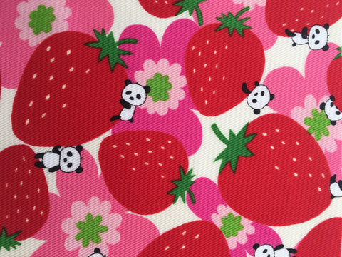 Pandas & Strawberries pink