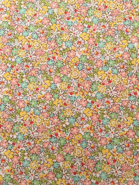 50s Floral Print yellow