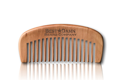 Walnut Beard Comb