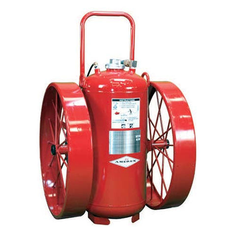 300lb Galvanized Wheeled Fire Extinguisher