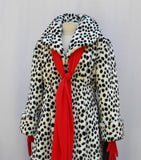 Cruella Coat Shawl And Gloves Set