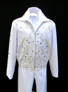 Elvis Presley Vegas Concert Costume, White Eagle Suit
