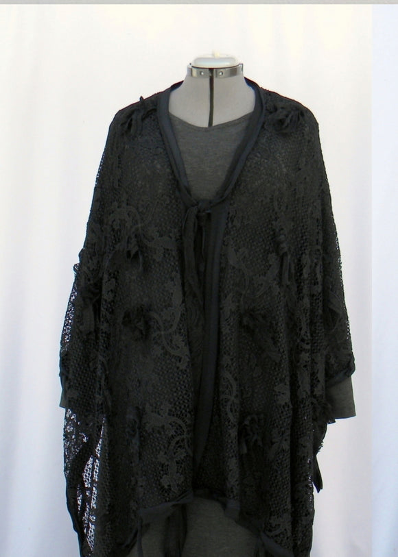 Grandmama Addams Costume Dress With Shawl
