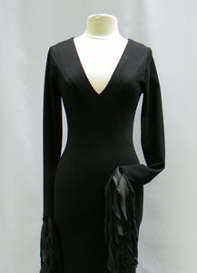 Morticia Addams Jersey Hangy Danglies Dress