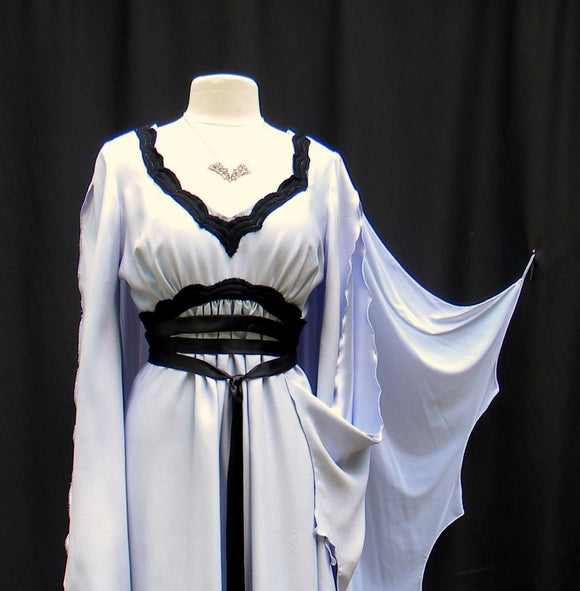Lily Munster Light Lavender Dress With Bat Necklace Included