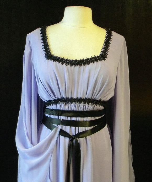 Lily Munster In Lavender Chiffon