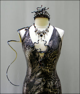 Medusa Dress With Tiara And Necklace