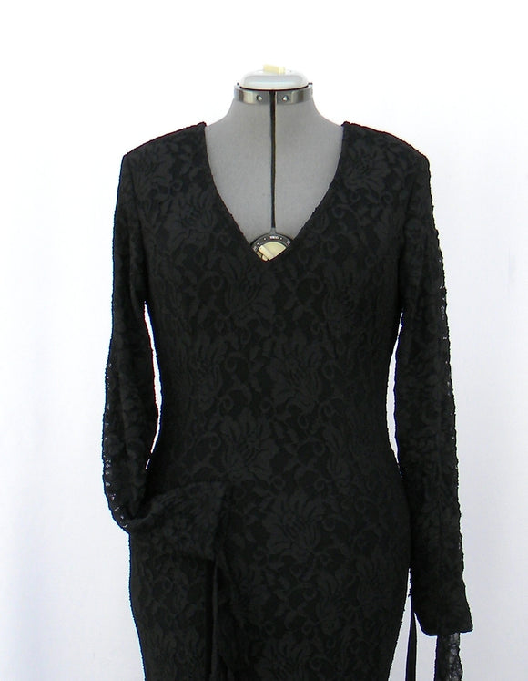 Morticia Addams Stretchy Lace Allure Dress