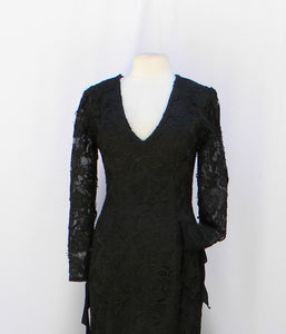 Morticia Addams Heavy Hollow Luxury Lace Dress