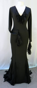 Morticia Addams Coiled Ruffles Dress