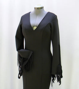 Morticia Addams Smooth Figuring Dress