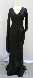 Morticia Addams Thorned Roses Dress