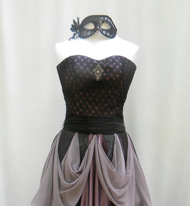 Masquerade Ballroom Gown Amethyst And Black