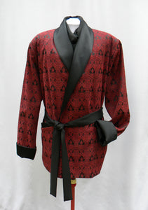 Gothic Red And Black Smoking Jacket
