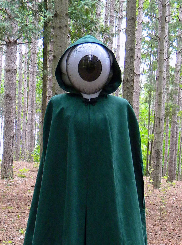 The Hunter Suede Look Cloak With Eyeball Mask