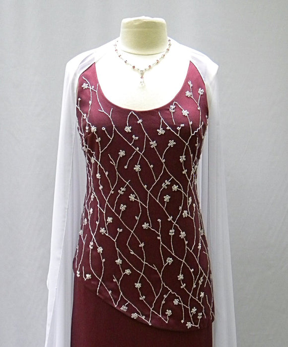 amethyst rose beaded dress