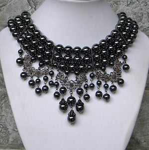 Bold heavy choker necklace