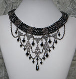 hematite and pewter choker