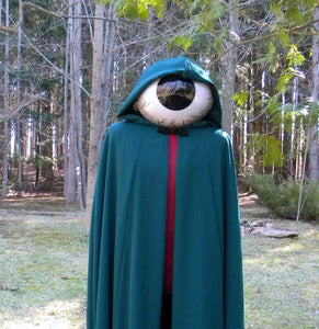 The Hunter Cloak And Eyeball Mask Halloween Costume