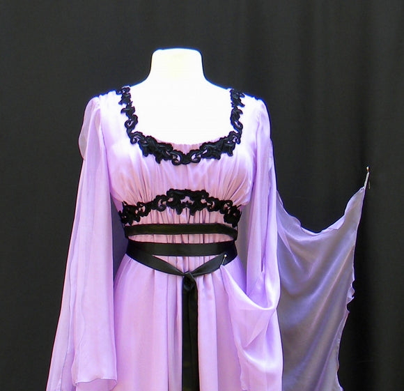 Lily Munster Fancy Trimmed Tissue Chiffon Dress