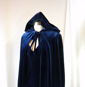 navy blue dress and cape set