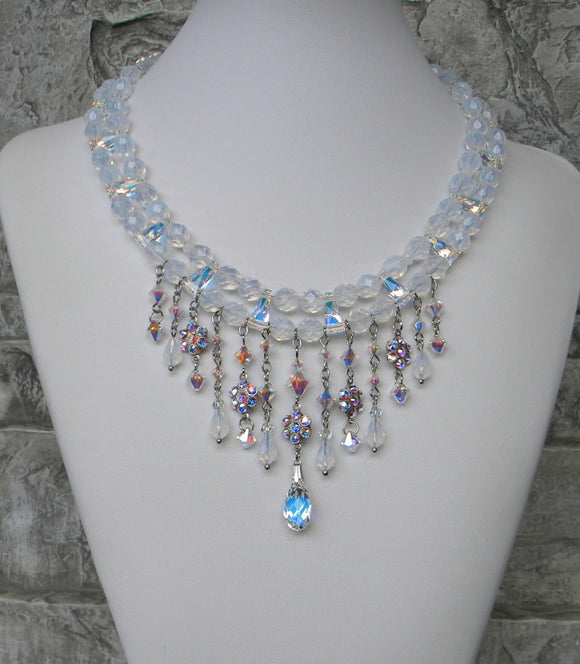 Opal In Rainbows Cascade Necklace