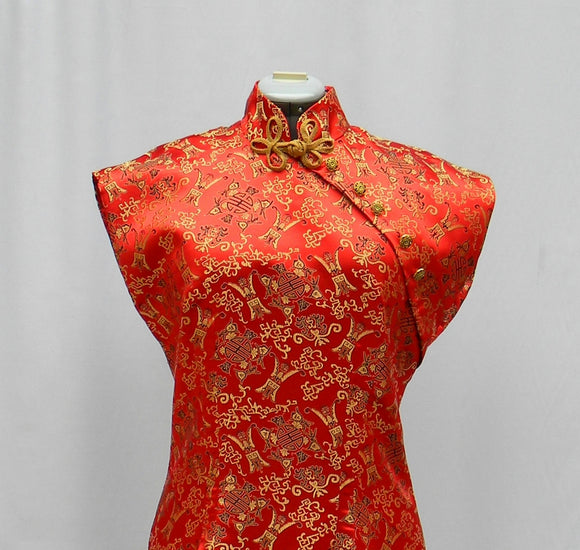 Red And Gold Chinese Styled Dress