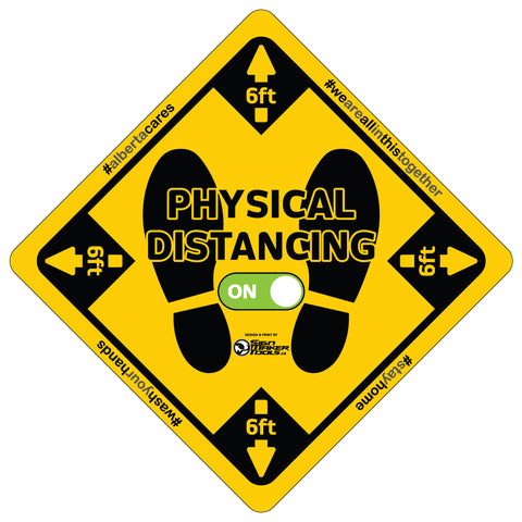 Physical Distancing floor decals