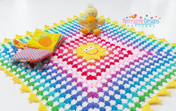 The Sunny Rainbow Blanket / Playmat... Free Pattern!!