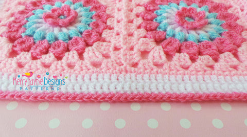 How To Crochet A Straight Border Kerry Jayne Designs