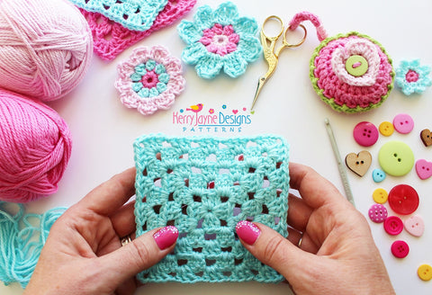 How To Crochet A Straight Granny Square Kerry Jayne Designs