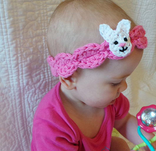 Bunny Headband Crochet Pattern USA
