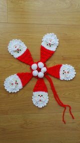 Santa Bunting Applique Pattern