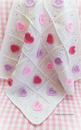Heart baby blanket pattern