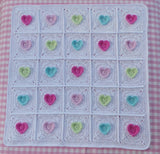 Hearts blanket crochet pattern