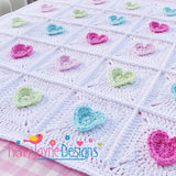 Heart blanket crochet pattern