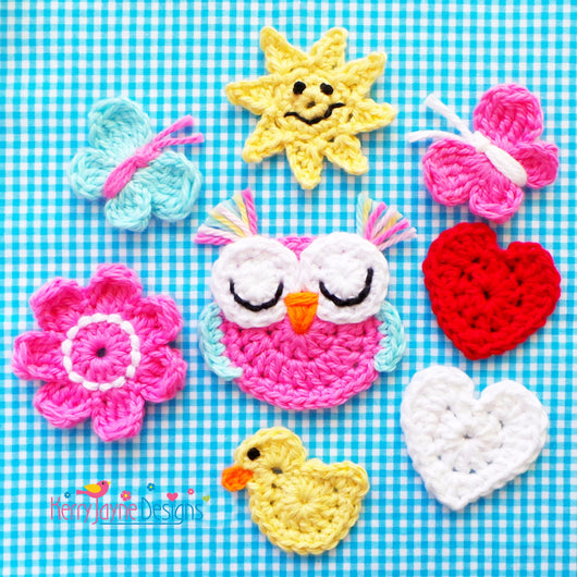 Mixed Applique Crochet Pattern USA