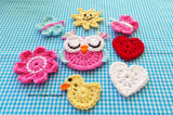 Crochet applique pattern