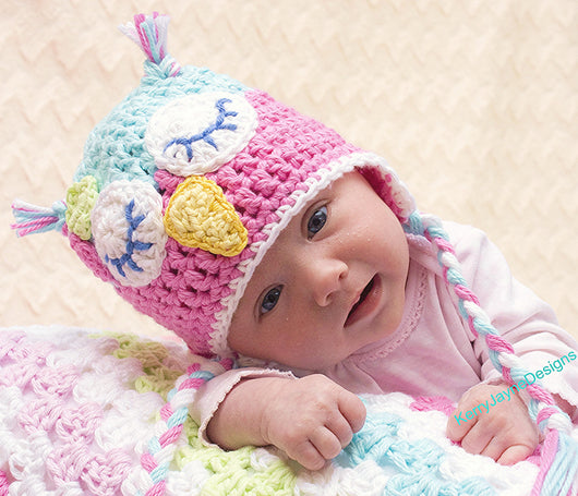 Baby Owl Hat Crochet Pattern UK – Kerry Jayne Designs c7174c2bd15