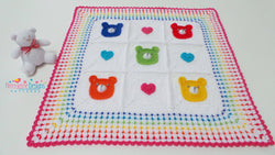 Bear crochet blanket pattern