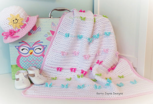 Colourful Crochet Baby Blanket pattern