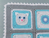 Cat afghan crochet pattern