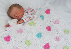 Heart Crochet Blanket Pattern